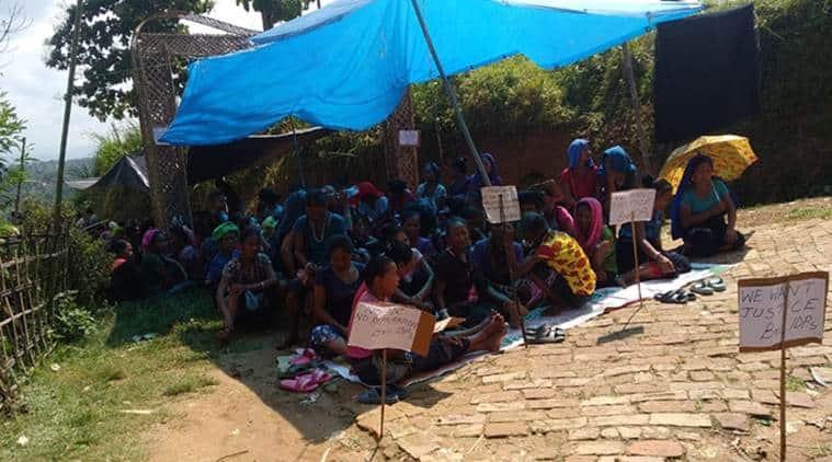Tripura repatriation camps, Tripura Bru repatriation camps, Tripura Bru repatriation camps protests, Tripura repatriation camps protests, Tripura protests, northeast news, Indian Express