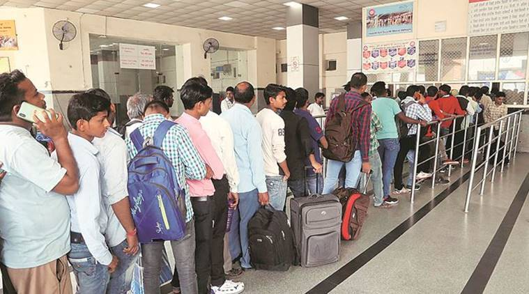 Fine for travelling without tickets, festival rush in trains, chandigarh news, indian express, latest news