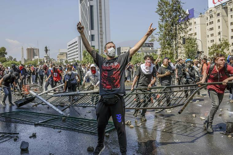 Chile unrest, Chile protests, unrest in Chile, Chile summit, Chile protesters, World news, Indian Express