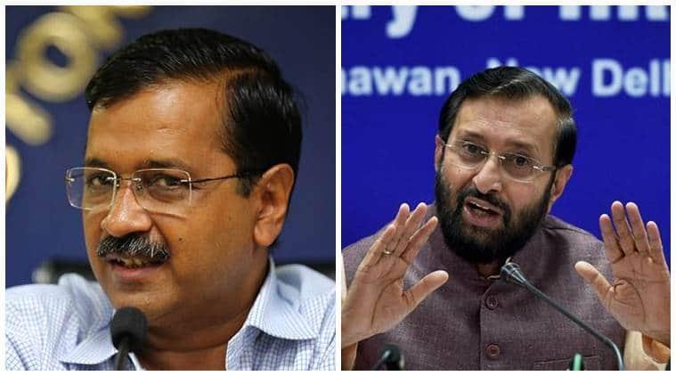 arvind kejriwal copenhagen visit, kejriwal denmark visit, kejriwal denmark visit row, prakash javadekar, delhi city news