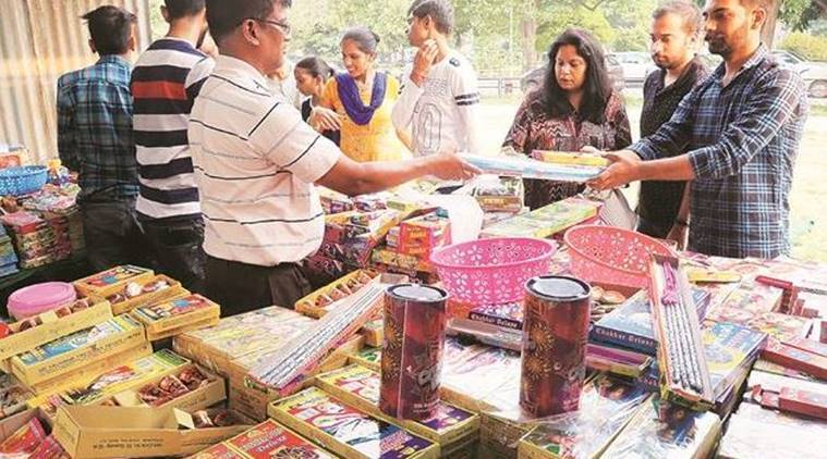 firecrackers in Chandigarh, chandigarh news, diwali in chandigarh, chandigarh diwali, chandigarh news, indian express