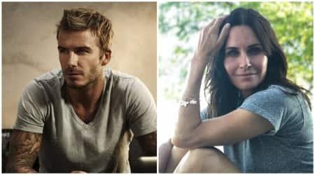 Courteney Cox and David Beckham Modern Family