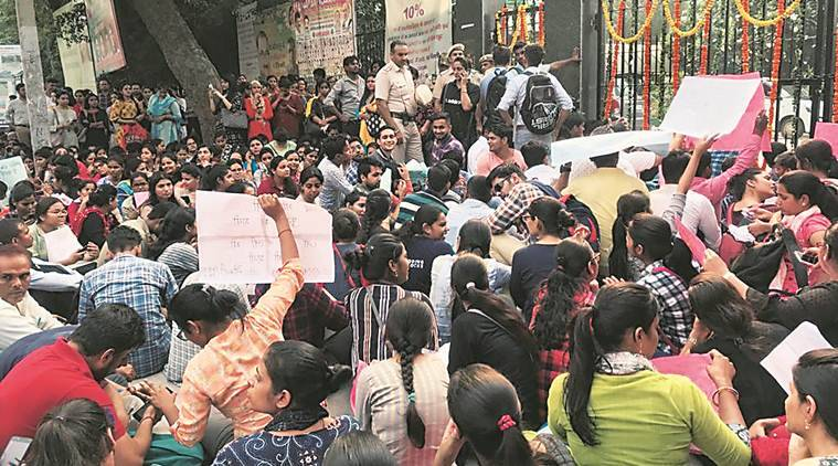Delhi: Not allowed to join civic body schools, 200 teachers protest