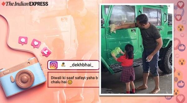 MS dhoni, Ms Dhoni ziva viral video, ms dhoni ziva wash car, viral video, trending, indian express, indian express news