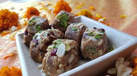 diwali sweets, healthy diwali sweets, Amaranth and cranberry bites recipe, indian express