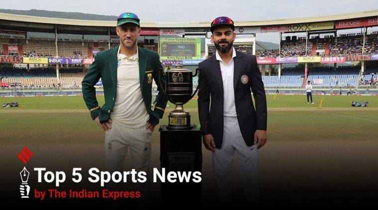 Top Sports News Headlines Today, October 10, 2019: Faf du Plessis' luck with toss
