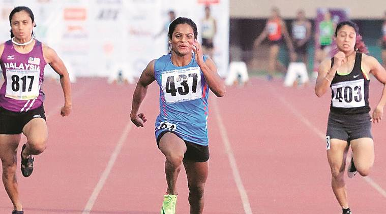 Dutee Chand, Dutee Chand 100 metre race, Dutee Chand runner, Senior Open National Championships, Sports news, Indian Express