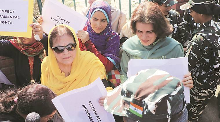 Day after jk releases farooq abdullahs sister daughter among 13 women held during protest
