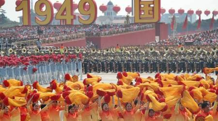 china 70th anniversary military parade, china national day, china military parade, peoples republic of china, tiananmen Square, world news, indian express