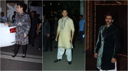 diwali bollywood photos, diwali photos bollywood, saif ali khan photos, kartik aaryan photos,arjun kapoor photos, sidharth malhotra photos, karan johar photos, diwali 2019, celeb fashion, lifestyle, indian express