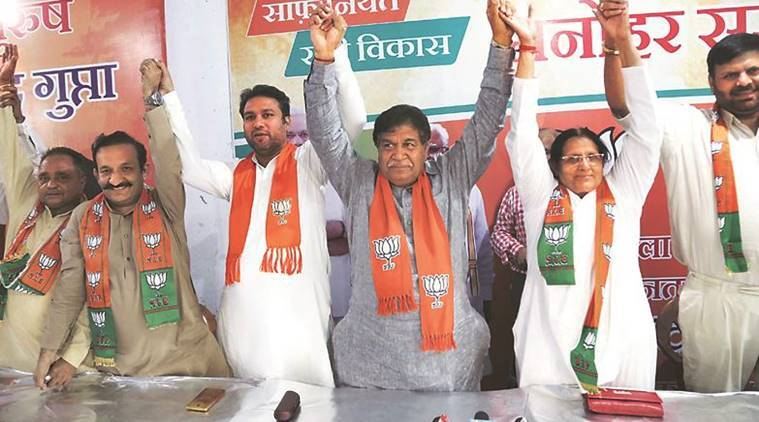 Panchkula MLA says BJP never involved in politics of casteism; four Congress leaders join saffron party
