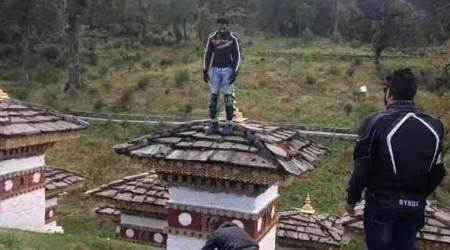 Bhutanese police detains Indian tourist for climbing atop Chorten in Bhutan