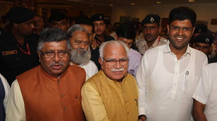 Haryana government formation: Manohal Lal Khattar, Dushyant Chautala oath today; father Ajay gets Tihar break