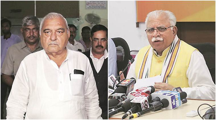 In Hooda's constituency, M L Khattar warns him: 'Jail waiting for you'