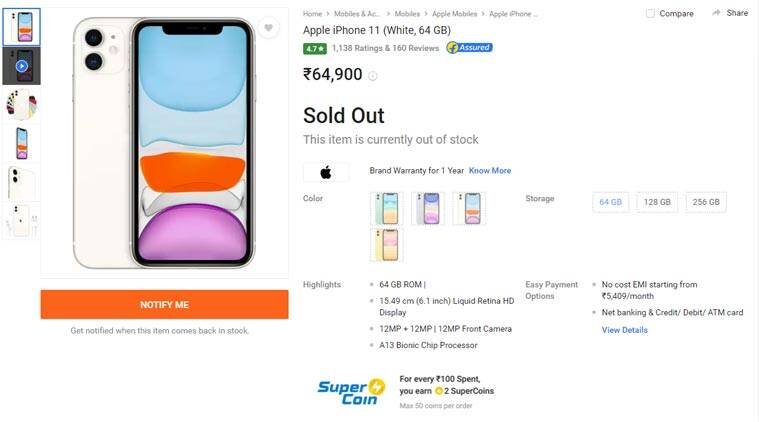 Apple iPhone 11, iPhone 11 out of stock, iPhone 11 India price, iphone 11 Diwali, iPhone 11 Pro out of stock, iPhone 11 vs OnePlus 7