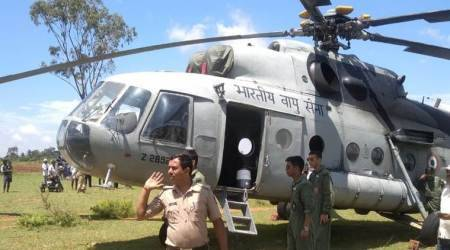 Indian Air Force Mi-17 helicopter makes emergency landing in Karnataka's Mandya