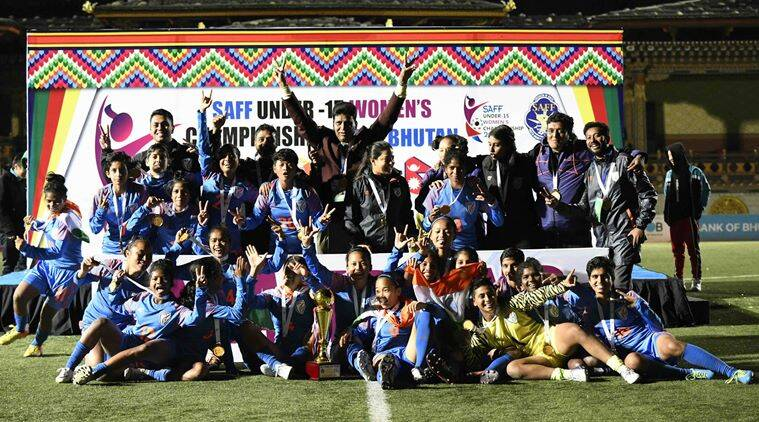 Indian football team clinches SAFF U-15 Women's Championships
