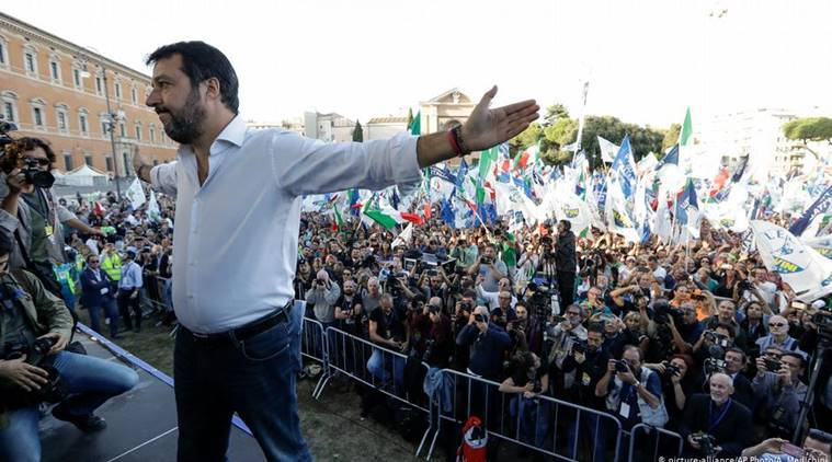 Italy's far-right leader Salvini pledges return to power at Rome rally