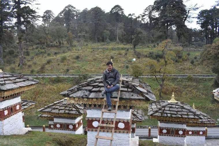Bhutanese police detains Indian tourist for climbing atop Chorten in Bhutan