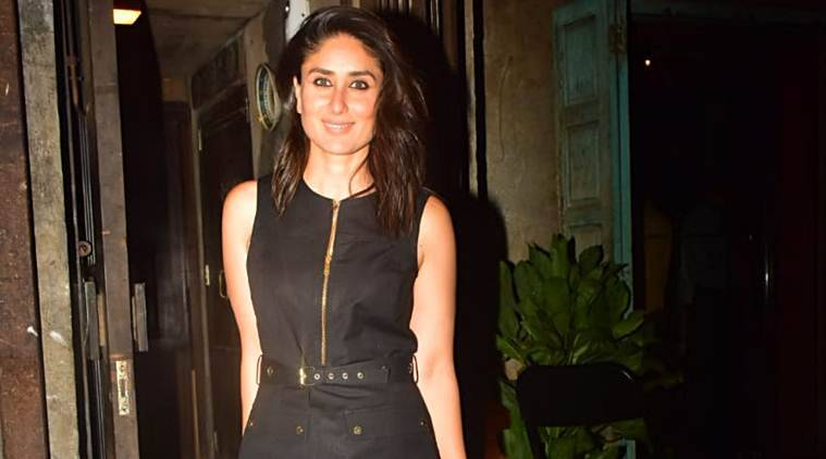 Kareena Kapoor Khan, classic LBD black dress, kareena party with girls, kareena Tanya Ghavri stylist, indian express news