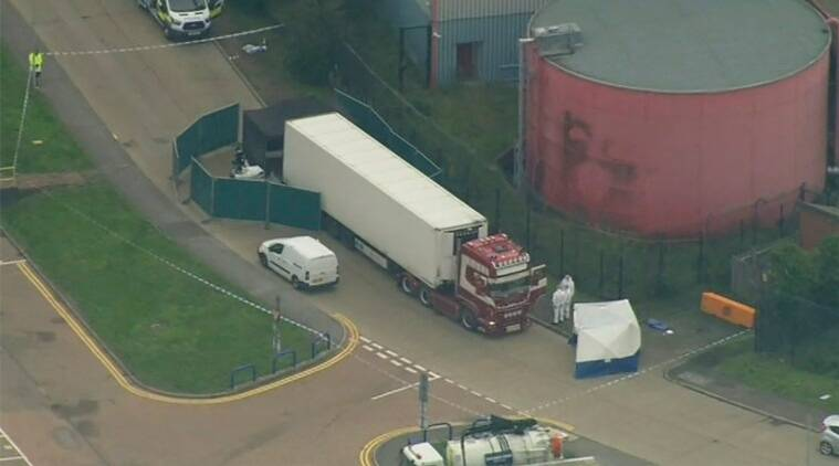 UK police say 39 bodies found in truck container near London