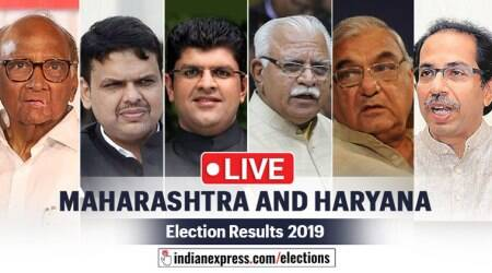 maharashtra haryana assembly election results today live updates: bjp, congress, ncp, shiv sena, jjp news today