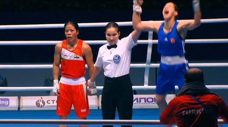 Mary Kom settled for a bronze after going down 1-4 to second seed Cakiroglu in the 51kg division