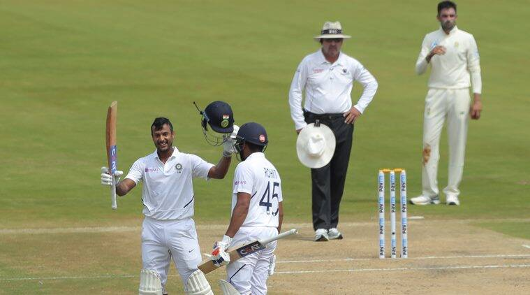 IND vs SA 1st Test, Day 2: Mayank Agarwal doube ton puts hosts in command