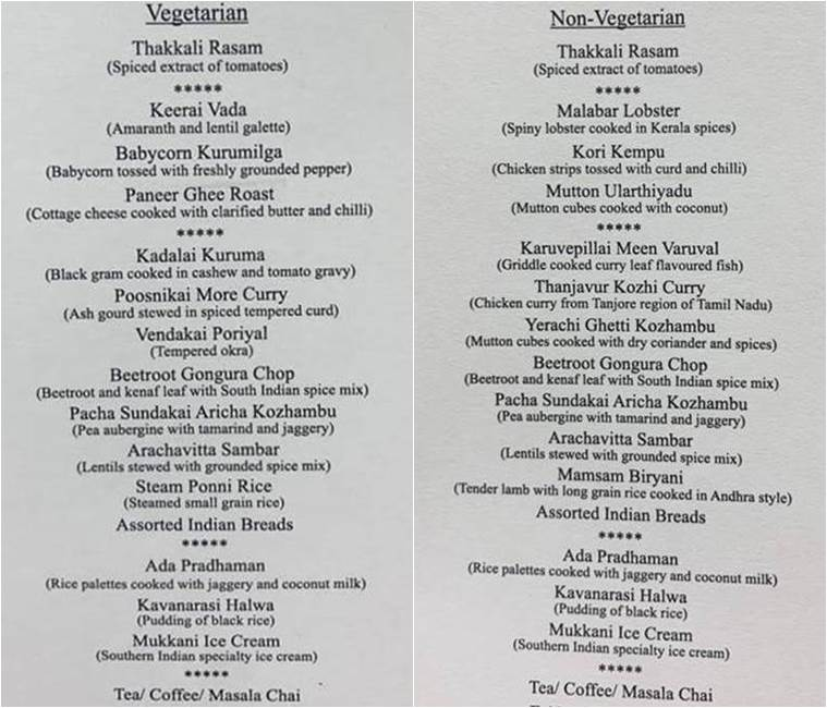 Full menu: Here is the southern spread PM Modi had ready for Xi Jinping