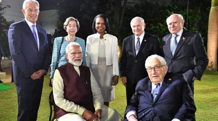PM Modi meets members of JP Morgan International Council in New Delhi