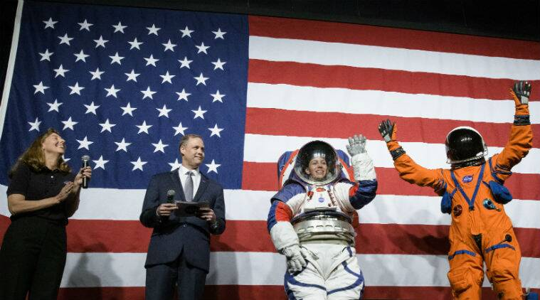 nasa, nasa spacesuits, new nasa spacesuits, nasa spacesuits for artemis moon mission, nasa unveils new spacesuits