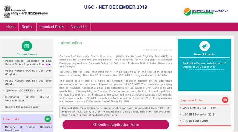 UGC NET, ugcnet.nic.in, nta.ac.in, csirnet.nic,in, ugc net december 2019 application form, national testing agency, education news,