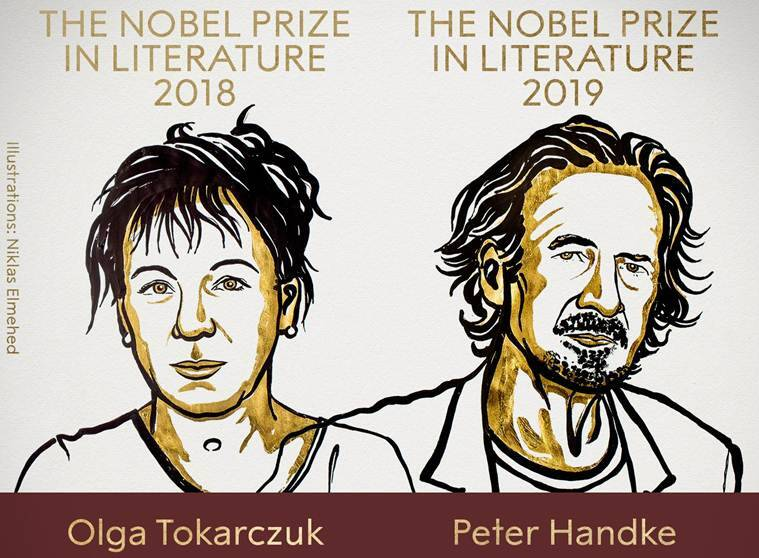 Nobel Prize in Literature Peter Handke wins 2019 award Olga Tokarczuk 2018