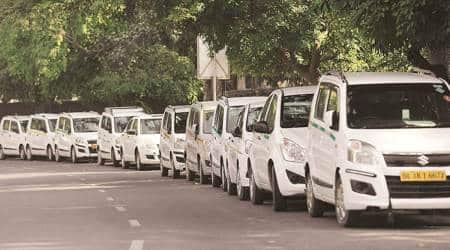 cab drivers, no booking, chandigarh news, Tricity news Indian express news