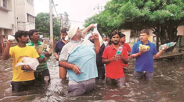 Bihar rain, Bihar rain death toll, relief operations in Bihar, Jan Adhikar Party, Pappu Yadav bihar floods, Pappu Yadav patna floods, patna rains, weather news, Indian express