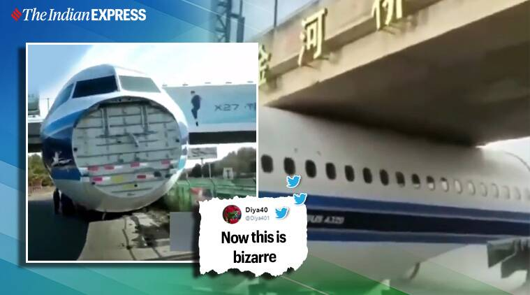 Aircraft gets stuck under bridge in China, viral video leaves netizens in splits