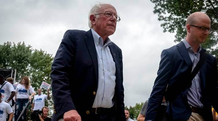 Us elections 2020, bernie sanders, donald trump, Iowa, new hampshire, US elections primary, elizabeth warren, Joe Biden, Us socialism , united states news, world news, indian express news, breaking news