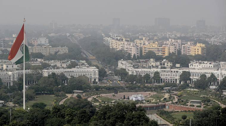 A thin layer of smog is seen on Delhi's skyline in New Delhi, India, Wednesday. (AP)