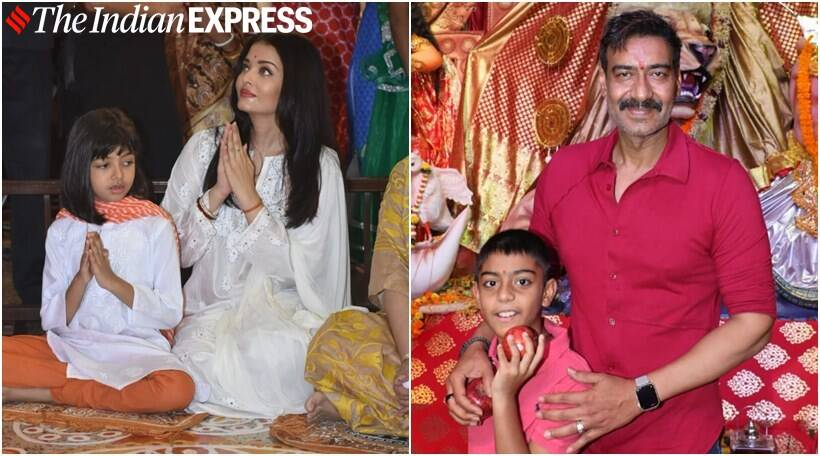 Aishwarya Rai Bachchan and daughter Aaradhya drop by Durga Pandal to seek blessing - view pics