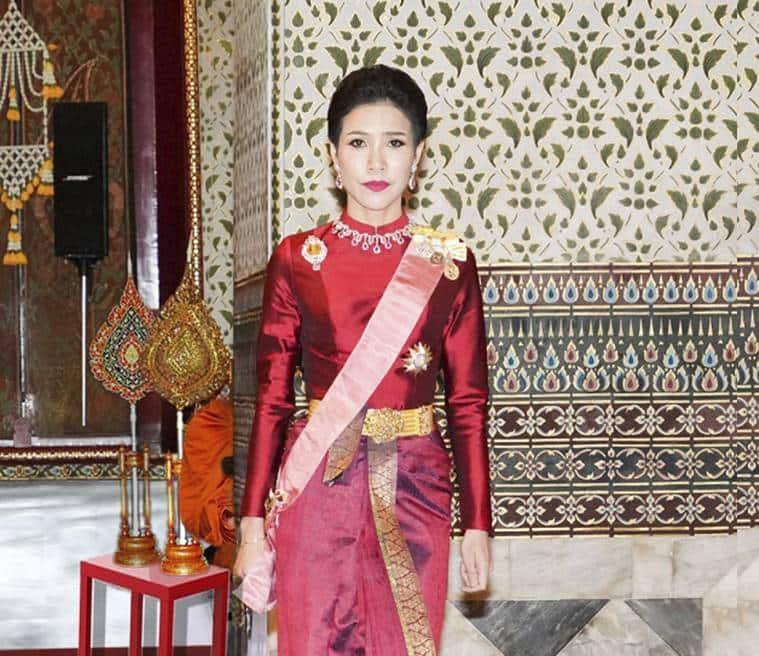 Thai King, Thai King Royal Consort, Thailand king, Sineenatra, Thai Royal consort, Thai royal consort stripped off titles, World news, Indian Express