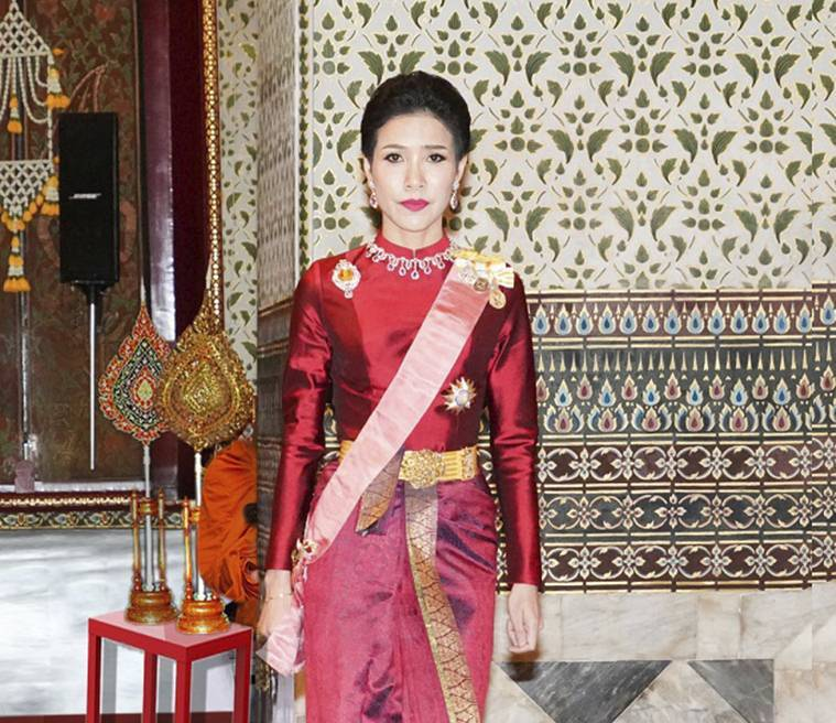 Thai King, Thai King Royal Consort, Thailand king, Sineenatra, Thai Royal consort, Thai royal consort stripped off titles, World news, Indian Express