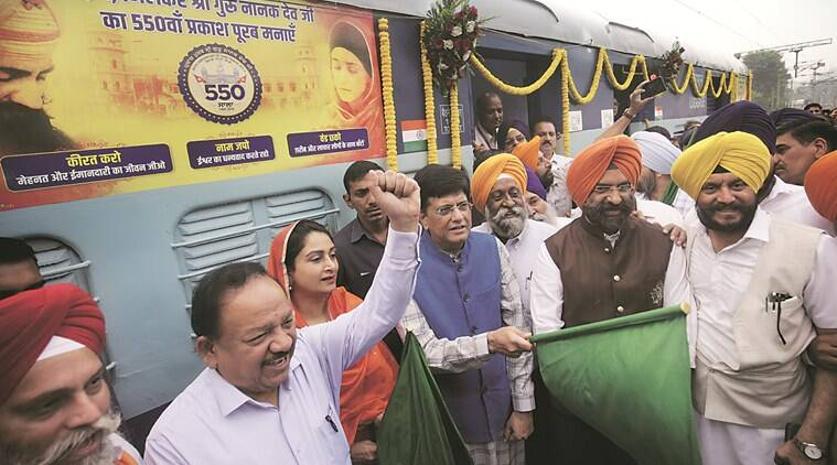 New Delhi-Ludhiana Intercity Express, new delhi ludhiana new train, Harsimrat Kaur Badal, piyush goyal, Harsh Vardhan, punjab news