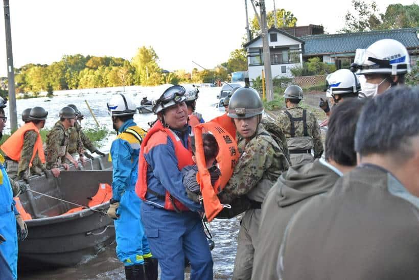 Japan floods, Tokyo Floods, Japan rains, Tokyo rains, Typhoon Hagibis, typhoon hagibis photos, Japan news, world news, indian express