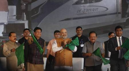Vande Bharat Express, Vande Bharat New Delhi-Katra Express, Amit Shah to flag off Vande Bharat, New Delhi-Katra Vande Bharat Express, India news, Indian Express