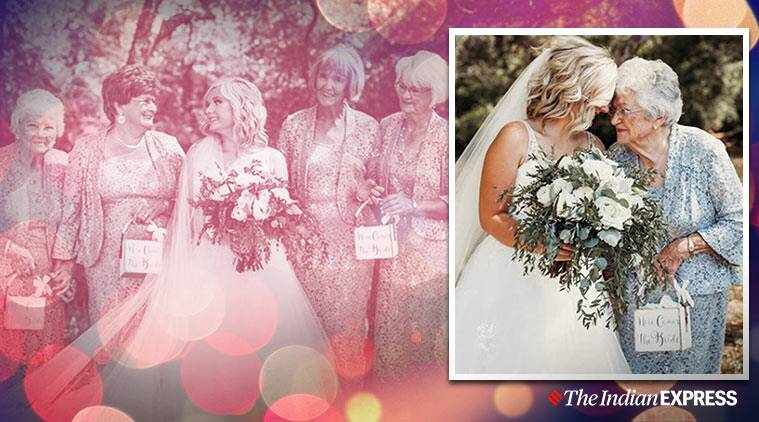 Couple gets four grandmothers as flower girls for wedding, photos go viral