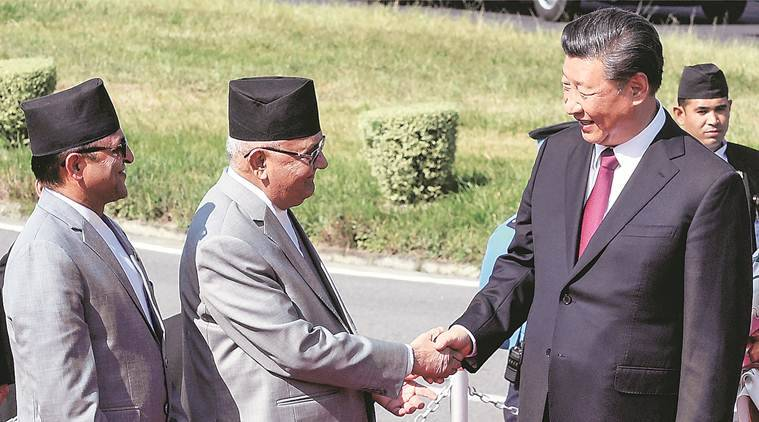 Nepal China relations, Xi Jinping in Nepal, Xi Jinping Nepal visit, Xi Jinping in India, Xi Jinping India visit, India news, Indian Express