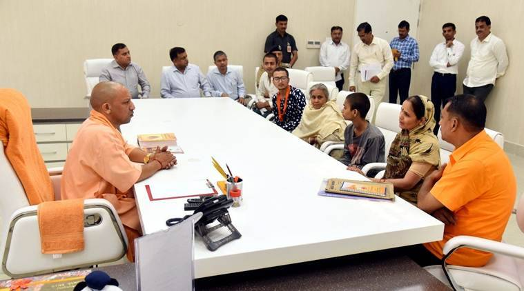 CM Adityanath sanctions Rs 15 lakh to killed Hindu outfit leader's wife