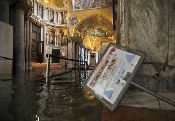 venice flood, venice water level rise, venice deluge, world news, indian express