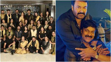 Chiranjeevi, Nagarjuna, Venkatesh, Mohanlal, Jaya Sudha, Jaya Prada, Radikaa Sarathkumar, Jagapathy Babu, Suhasini, Sumalatha, 80s reunion, 80s south indian actors, south indian actors reunion, south indian actors get together, chiranjeevi 80s party, chiranjeevi party photos