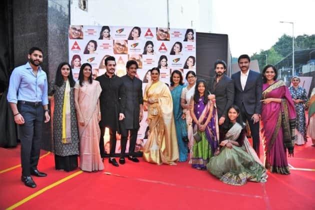 Nagarjuna, Akhil Akkineni, Rekha, Chaitanya Akkineni ANR National Award 2019